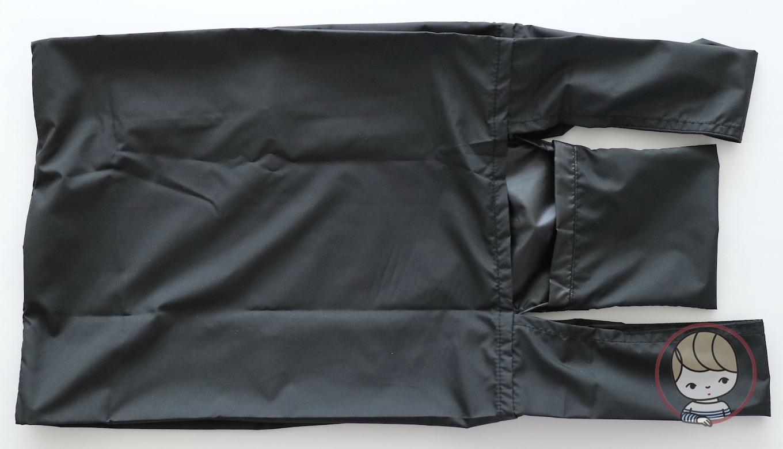 無印良品「ポケッタブルバッグ」たたみ方#01