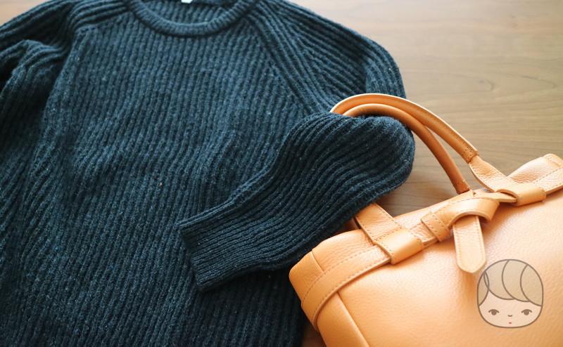 土屋鞄製造所「クラルテ ハンディカフェトート」スタイリング例(セーター)